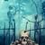 夜景 · 墓地 · 頭蓋骨 · 怖い · デザイン · クロス - ストックフォト © sandralise
