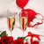 closeup of champagne glasses and roses stock photo © sandralise