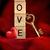 coração · chave · vermelho · buraco · de · fechadura · dourado · dentro - foto stock © sandralise