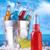 színes · jég · italok · műanyag · csészék · üveg - stock fotó © sandralise