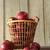 metaal · mand · tabel · Rood · vruchten · witte - stockfoto © sandralise