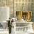 fehér · esküvői · torta · ezüst · dekoráció · asztal · étel - stock fotó © sandralise