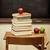 oude · school · bureau · boeken · appel - stockfoto © sandralise