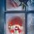 ventana · mirando · velas · vacaciones · decoraciones - foto stock © sandralise
