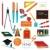 Colorful school supplies design element set stock photo © sanjanovakovic