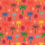 trópusi · pálmalevelek · vektor · végtelenített · trópusi · pálma - stock fotó © sanjanovakovic
