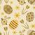 vettore · senza · soluzione · di · continuità · fiori · floreale · oro · pattern - foto d'archivio © sanjanovakovic