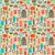 seamless pattern background with kitchen silhouette icons stock photo © sanjanovakovic