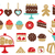 various colorful sweets icons stock photo © sanjanovakovic