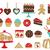 bolos · doces · ícones · casamento · festa · design - foto stock © sanjanovakovic