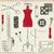 de · costura · bordado · símbolos · papel · mão · compras - foto stock © sanjanovakovic