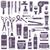cuidados · com · os · cabelos · ícones · coleção · projeto · assinar · quarto - foto stock © sanjanovakovic