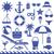 sea symbols silhouette icons vector set 2 stock photo © sanjanovakovic