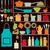 Colorful kitchen silhouette icons stock photo © sanjanovakovic