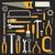 various hand tools vector silhouette icons on black background stock photo © sanjanovakovic