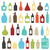 colorido · botellas · diseno · fondo · arte · beber - foto stock © sanjanovakovic