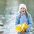 güzel · küçük · kız · renkli · sonbahar · yaprakları · çocuk - stok fotoğraf © sapegina