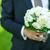 花嫁 · 花束 · 白いドレス · 触れる · リング - ストックフォト © sapegina