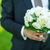 groom with peonies bouquet stock photo © sapegina
