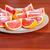 Rood · grapefruit · plaat · textuur · voedsel · vruchten - stockfoto © sapegina