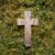 Pasen · houten · kruis · gras · verweerde · weelderig - stockfoto © sarahdoow