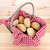 Rustic picnic basket of fresh bread rolls stock photo © sarahdoow