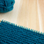 Garter stitch on knitting needle with teal yarn stock photo © sarahdoow