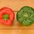czerwony · zielone · papryka · stół · kuchenny · żywności - zdjęcia stock © sarahdoow