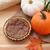 mini · sütőtök · őszi · levelek · fehér · háttér · levelek - stock fotó © sarahdoow