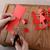 cadeia · vermelho · papel · bonecas · tesoura - foto stock © sarahdoow