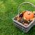 rústico · cesta · abóbora · folhas · pinho - foto stock © sarahdoow