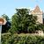 Tourist sign points towards historic church stock photo © sarahdoow