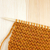 garter stitch in orange yarn on a knitting needle stock photo © sarahdoow