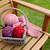Basket of knitting and yarns on a bench stock photo © sarahdoow