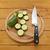 cukkini · szeletel · kés · vágódeszka · friss · zöld - stock fotó © sarahdoow