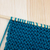 garter stitch in teal yarn on knitting needle stock photo © sarahdoow