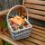 cesta · abóbora · folhas · banco · pinho - foto stock © sarahdoow