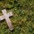 klein · kruis · gras · mos · verweerde · exemplaar · ruimte - stockfoto © sarahdoow