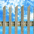 blanche · clôture · ciel · bleu · maison · maison · modèle - photo stock © sarkao