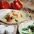quinoa salad with tomatoes corn and beans stock photo © sarymsakov