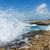 dalga · plaj · büyük · gökyüzü · okyanus · yeşil - stok fotoğraf © scheriton