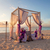 romantic wedding table on sandy tropical beach at sunset stock photo © scheriton