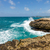 devils bridge antigua waves crashing on coastline stock photo © scheriton
