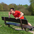 man exercising doing pressups on a park bench stock photo © scheriton
