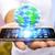 affaires · surf · internet · modernes · téléphone · portable · main - photo stock © sdecoret