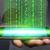 üzletember · számítógépes · vírus · éber · komoly · tart · számítógép - stock fotó © sdecoret