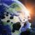 表面 · デジタルイラストレーション · 地球 · 煙 · 星 · 岩 - ストックフォト © sdecoret