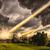 meteoriet · douche · stad · gebouwen · brand · wereld - stockfoto © sdecoret