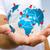 empresário · digital · mapa · do · mundo · mãos · flutuante - foto stock © sdecoret