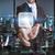 üzletember · iroda · interfész · digitális · ujjak · üzlet - stock fotó © sdecoret